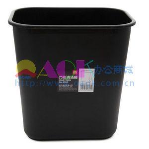 方形垃圾桶 黑色>