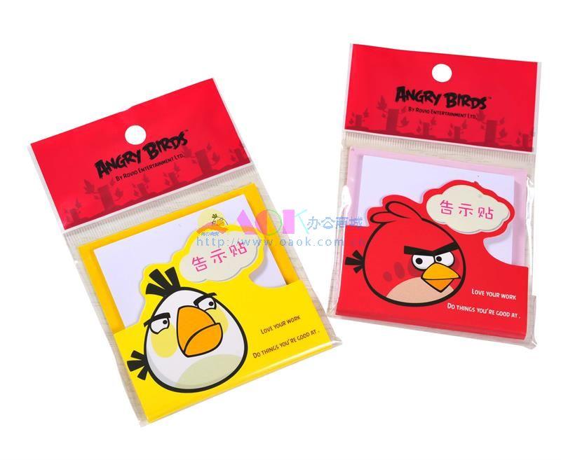 广博愤怒小鸟 卡通告示贴 ab5106 红色