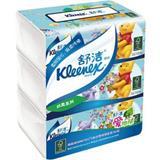 舒洁 200抽 袋装面巾纸 200*194mm(3包/提)
