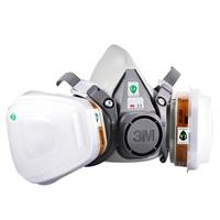 3M 6200防毒面具面罩防化工喷漆防尘中号