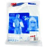 3M 白色带帽连体防护服 4535(Type5&6类防护,蓝色背部透气设计)